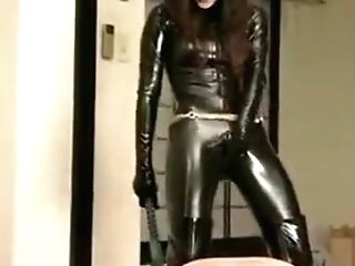 Asian Spandex Catsuit  Whipping Her Submissive Hard And Hot Paraffin Wax In The End