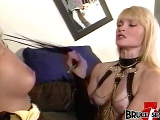 Dyke Female Domination Instructs Some Manners To Beautiful Sub Stunner