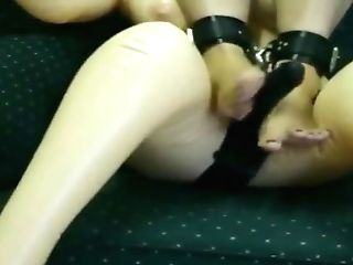 Foot Job To Gargle Doll With Strap On Dildo