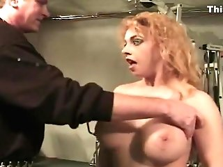 Subordinated Super-bitch Syn Gets Her Ginormous Tits Toyed With By Eric
