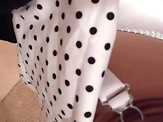 Retro Polkadot Sundress Ffn Seamed Stockings