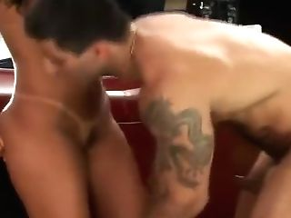 Gorgeous Suntanned Stunner Is Fucked On A Antique Car