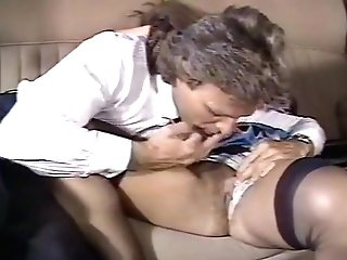 Fabulous Old School Scene With Jean-luc Brunet And Sabina Karen