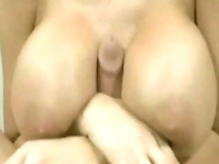 Retro Very Big-boobed Titty Wanking And Cum Shots ....