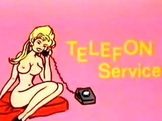 Antique 70s German - Telefon Service - Cc79
