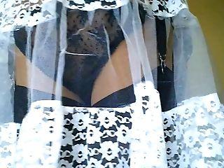 Retro Lace Slip & Black Lace Underpants
