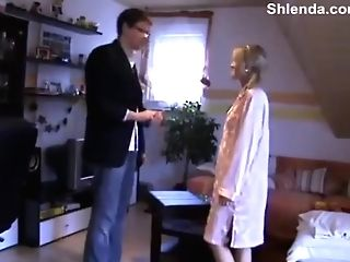 Mentor's Matures Friend Visit. Youthful Skinny 18yo Nubile Daughter-in-law Rectal