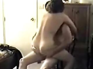 Matures Duo Fucking On A Stool