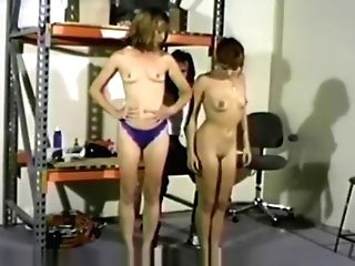 Blue Undies Spanking Wedgie