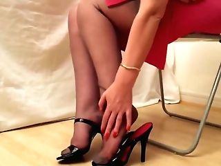 Black Stilettos And Rht Stockings