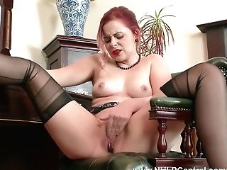 Red-haired Anna Belle Is Your Antique Nylon Kink Consultant At Jack Off Club