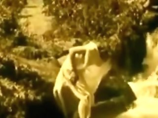 Antique Erotic Movie 7 - Nude Female At Waterfall 1920