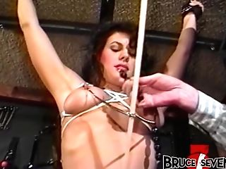 Brucesevenfilms - Ultra-cute Sub Bambi Love Tethered And Whipped