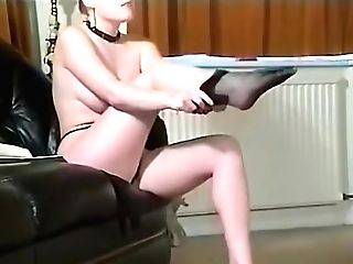 Sexy Brit Huge-chested Pantyhose Teaser