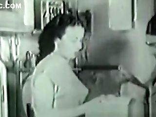 1936 Antique With Hairy First-timer Housewife