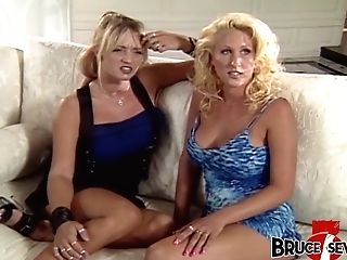 Four Big-chested Girly-girl Mummies Spreading Bum And Cooter With Fucktoys