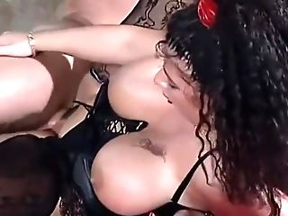 Antique Big-chested In Black Underwear -&gt Tiziana Redford Aka Gina Colany