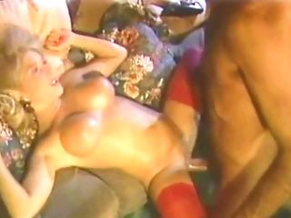 The Prettiest Little Yankee Blonde In Crimson Stockings Fucked