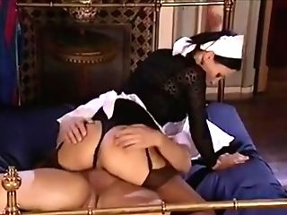 Blonde maid gets fucked by black couple Maid Porn Classic Movies