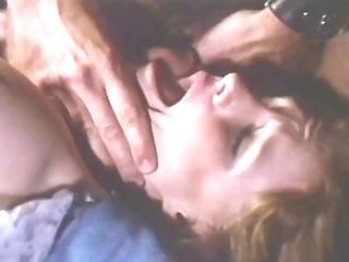intense threesome action with two cute blonde