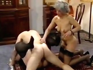 Two Bbw & Skinny Grannies Fucked By A Man (antique)