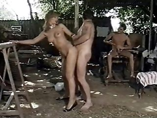 German Bitch fucked by two Trailer Park guys