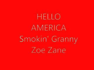 Wild Granny Pornographic Star Zoe Zane Smokes N Pantyhose