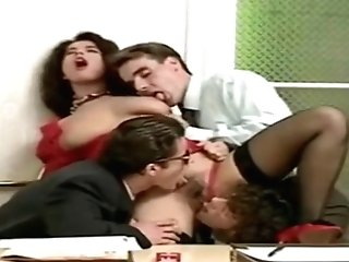 Angelica Bella Antique French Gang-fuck