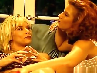Retro Red-haired With Brilliant Tits In Lezzie Scene