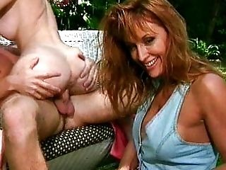 Lucky dick coddled by two redheads