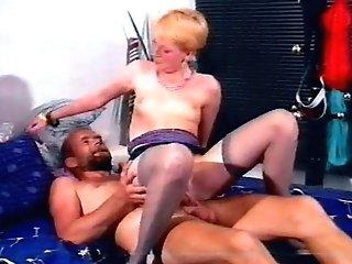 Brief Hair Blonde Fraulein & Beardy Herr
