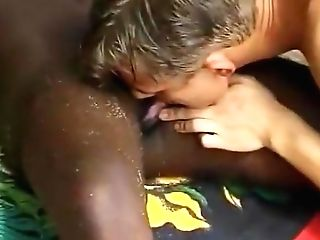 Black Chick Milky Euro Dude Fuck On The Beach