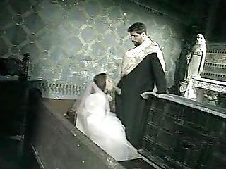 """Priest Jean-yves Fucks Bride Vivien: Scene From """"il Confessionale"""""""