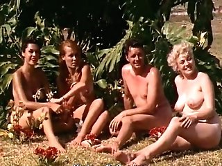 Naked Women Having Joy At A Naturist Resort (1960s Antique)