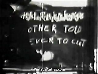 School Nymphs get a Hard-core Group Romp Lesson (1950s Antique)