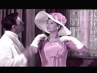 Sophia Loren In Underwear And Nylons (recolored)