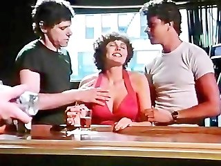 Desiree Cousteau, Rod Pierce, Ron Hudd in xxx classical pornography threesome fucking in a cafe