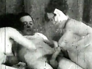 Dame Helps Older Duo Have Fuck-fest (1930s Antique)
