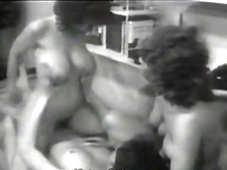 Two German Bitches Squeeze A Man Dry (1960s Antique)