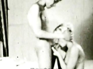 First-timer Duo In Oral Romp Twist (1950s Antique)