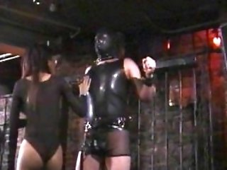 Perverted Stud In A Mask Likes Being Spanked By An Asian Harlot