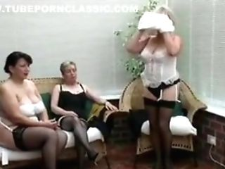 Antique Unclothing From Three Matures Village Ladies