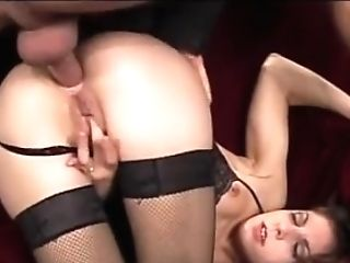 Yammy Brown-haired Woman From 90s Getting Buggered By Lengthy Dick