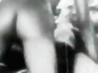 Sexy Female Playing In Sofa (1920s Antique)