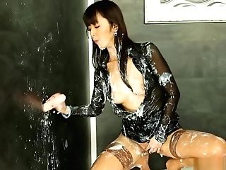 Cumcovered Classy Asian Wanking Gloryhole