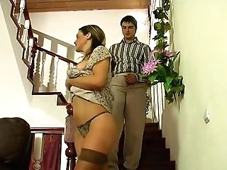 Gonzo Black-haired Nubile In Stockings