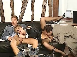 German Lady Fucked By Two Biz Guys