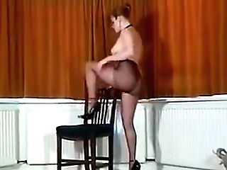 Sexy Brit Big-chested Pantyhose Teaser