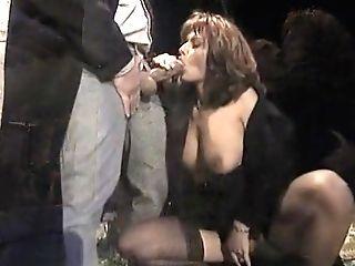 Incredible Homemade Facial Cumshot, Stockings Orgy Scene