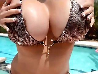 Big-boobed Pool Lady